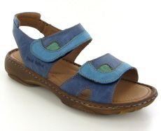 Josef Seibel Debra Blue Multi Leather Sandal