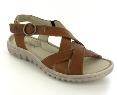 Josef Seibel Lucia 01 Castagne Leather Sandal