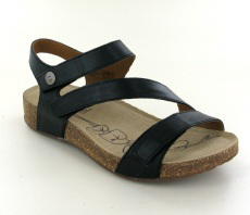 Josef Seibel Tonga 25 Black Leather Sandal
