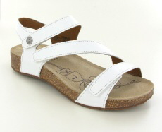 Josef Seibel Tonga 25 White Leather Sandal