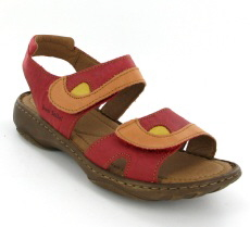 Josef Seibel Debra Hibiscus Multi Leather Sandal