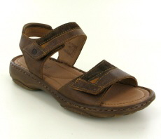 Josef Seibel Debra 19 Castagne Leather/Suede Sandal - View 1