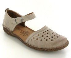 Josef Seibel Rosalie 19 Creme Leather Shoe