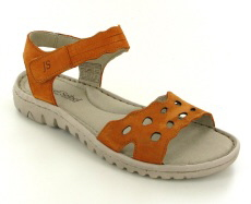 Josef Seibel Lucia 07 Orange Leather Sandal