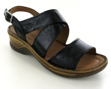 Josef Seibel Molly 04 Black Leather Sandal