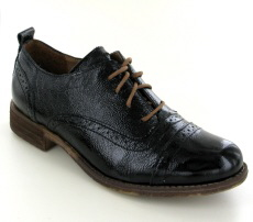 Josef Seibel Sienna 73 Black Leather Patent Shoe - View 1