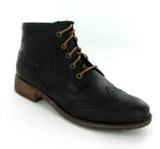 Josef Seibel Sienna 74 Black Leather Boot
