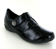 Josef Seibel Naly 21 Black Patent Leather Patent Shoe - View 1