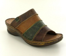 Josef Seibel Catalonia 64 Brandy Multi Leather Mule  - View 1