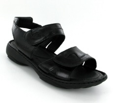 Josef Seibel Debra Black Leather Sandal
