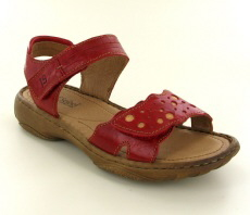 Josef Seibel Debra 55 Red Leather Sandal