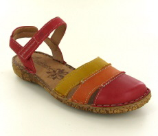 Josef Seibel Rosalie 44 Red Multi Leather Sandal