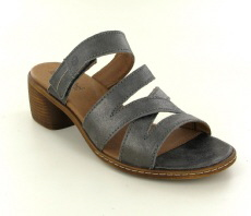 Josef Seibel Juna 04 Antrazit Leather Sandal