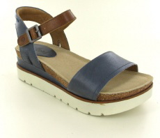 Josef Seibel Clea 01 Jeans Combi Leather Sandal