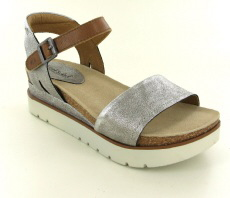 Josef Seibel Clea 01 Platin Combi Leather Sandal