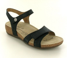 Josef Seibel Natalya 07 Black Leather Sandal