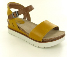 Josef Seibel Clea 01 Yellow Combi Leather Sandal
