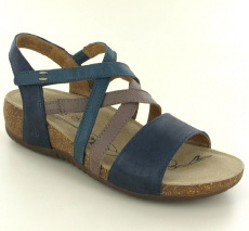 Josef Seibel Natalya 10 Blue Multi Leather Sandal