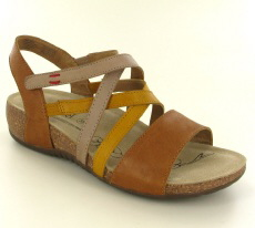 Josef Seibel Natalya 10 Camel Multi Leather Sandal