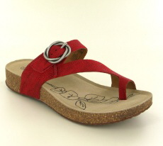 Josef Seibel Tonga 52 Red  Leather Sandal