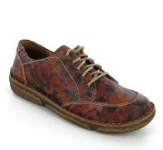 Josef Seibel Neele 02 Carmin Print  Leather Shoe