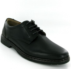 Josef Seibel Alastair 01 Black Leather Shoe