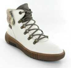 Josef Seibel Maren 17 White Leather Boot