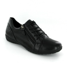 Josef Seibel Naly 38 Black Leather Shoe